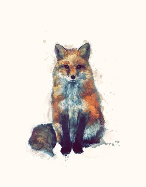 This would be beautiful as a tattoo. I've always been interested in fox tattoos, but I want it small and looking sly