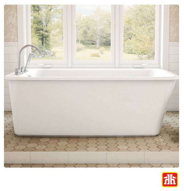 Tubs are less likely to be positioned in a corner where they take up valuable square footage. A freestanding tub becomes the focal point of a bathroom.