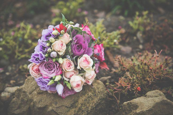purple wedding bouquet - buchet mireasa mov - lila - soft pink (www.maya-flowers.blogspot.ro)