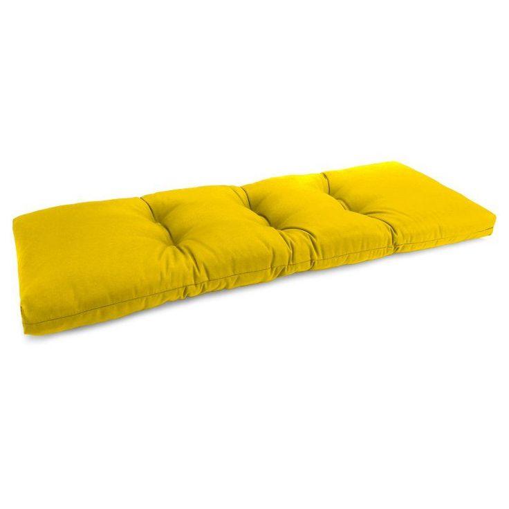 Jordan Manufacturing 16.5 x 38 in. Solid Indoor Bench Cushion Forsythe Soleil - 9686PK1-2823E-I1702