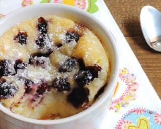 Clafoutis allégé aux myrtilles et yaourt 0%