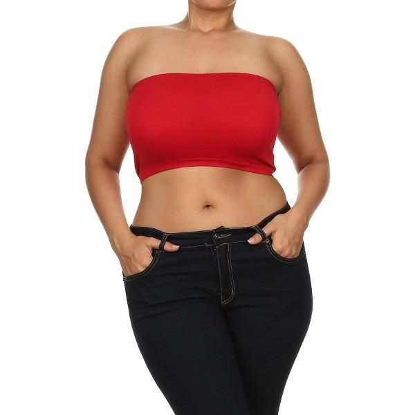 Plus Size Bandeau Top