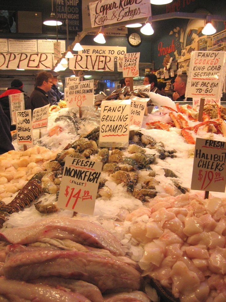 Pikes Market Seattle 49 best seafood images