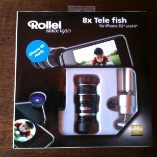 Rollei kit for iPhone 3/4: fish-eye lens + 8x zoom + tripod ;-)