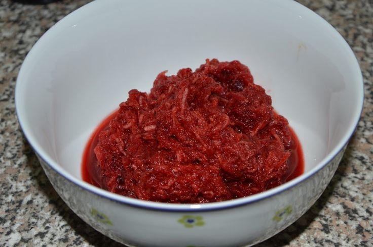 Salát z červené řepy s jablky
