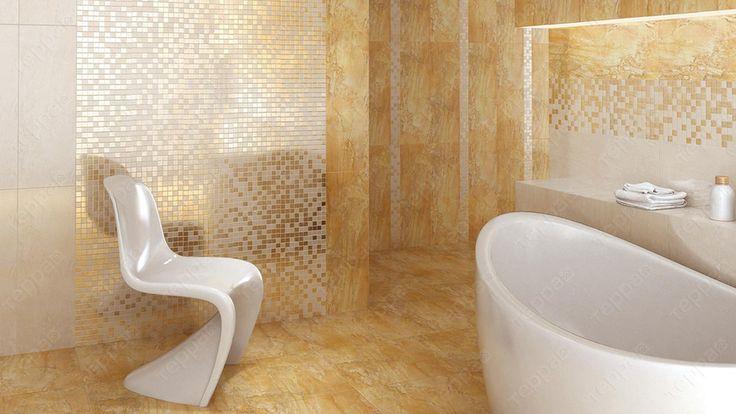 Интерьер ванной Kerama Marazzi - Золотой Водопад