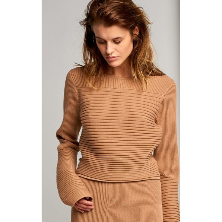 Rib Effect Crop Sweater