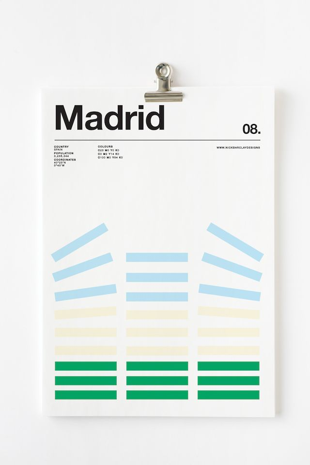 Three colors cities by Nick Barclay Today we want to introduce you the last work of Nick Barclay, art director…