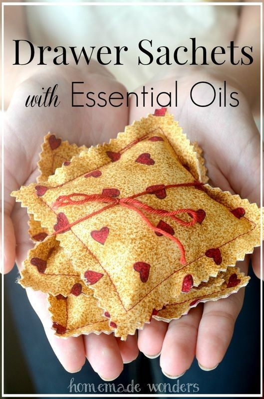 Drawer Sachets with Essential Oils - Homemade Wonders                                                                                                                                                     More