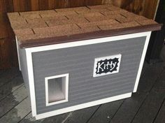 """I built this most awesome insulated and """"heated"""" cathouse ... like a dog house, but for a cat! I looked high and low for cat house shelter plans and found very little that appealed to me, so I made my own! Even my amateur woodworking skills couldn't stop me on this build."""
