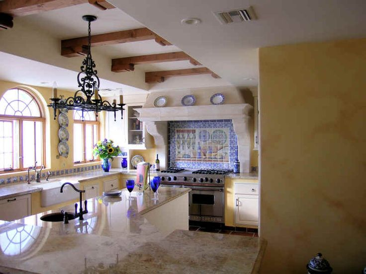 861 best images about favorite tuscan and mexican spaces for Spanish style kitchen backsplash