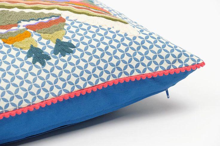 Capa de Almofada Folk Coruja 50x50 cm