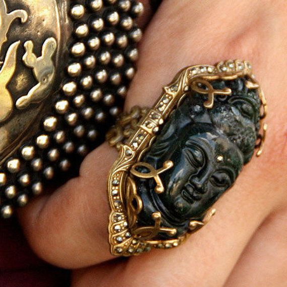 Buddha Ring Spiritual Ring Hippie Ring by ShelleyCooperJewelry