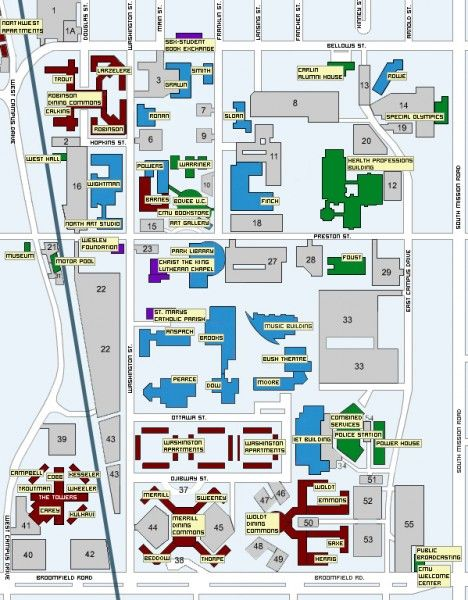 Central Michigan University Map | MAPS   Local | Pinterest