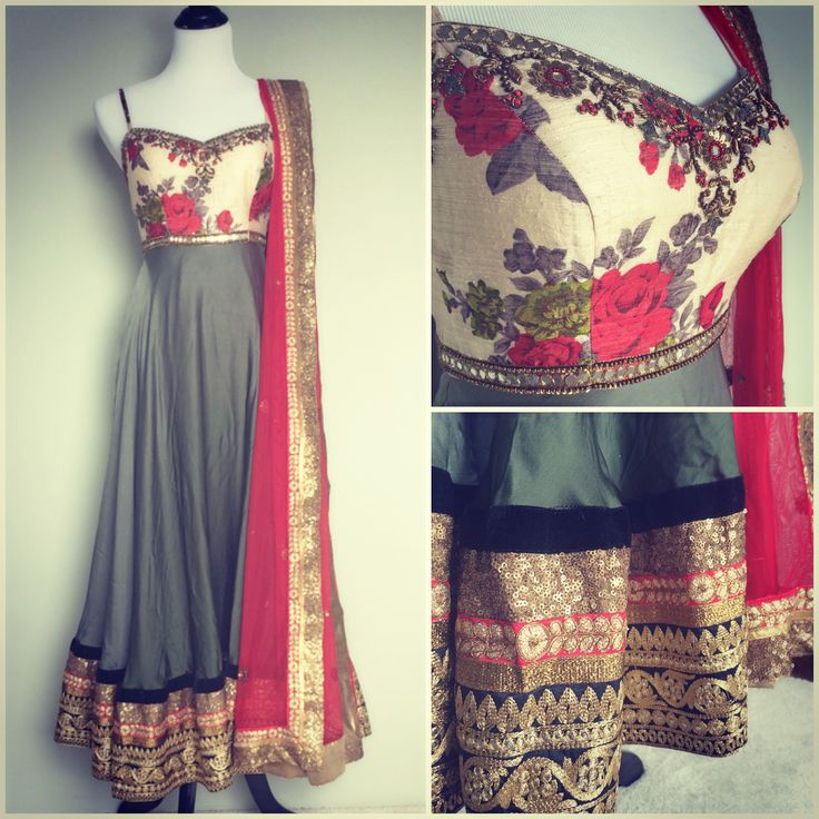 The floral on the anarkali is nice
