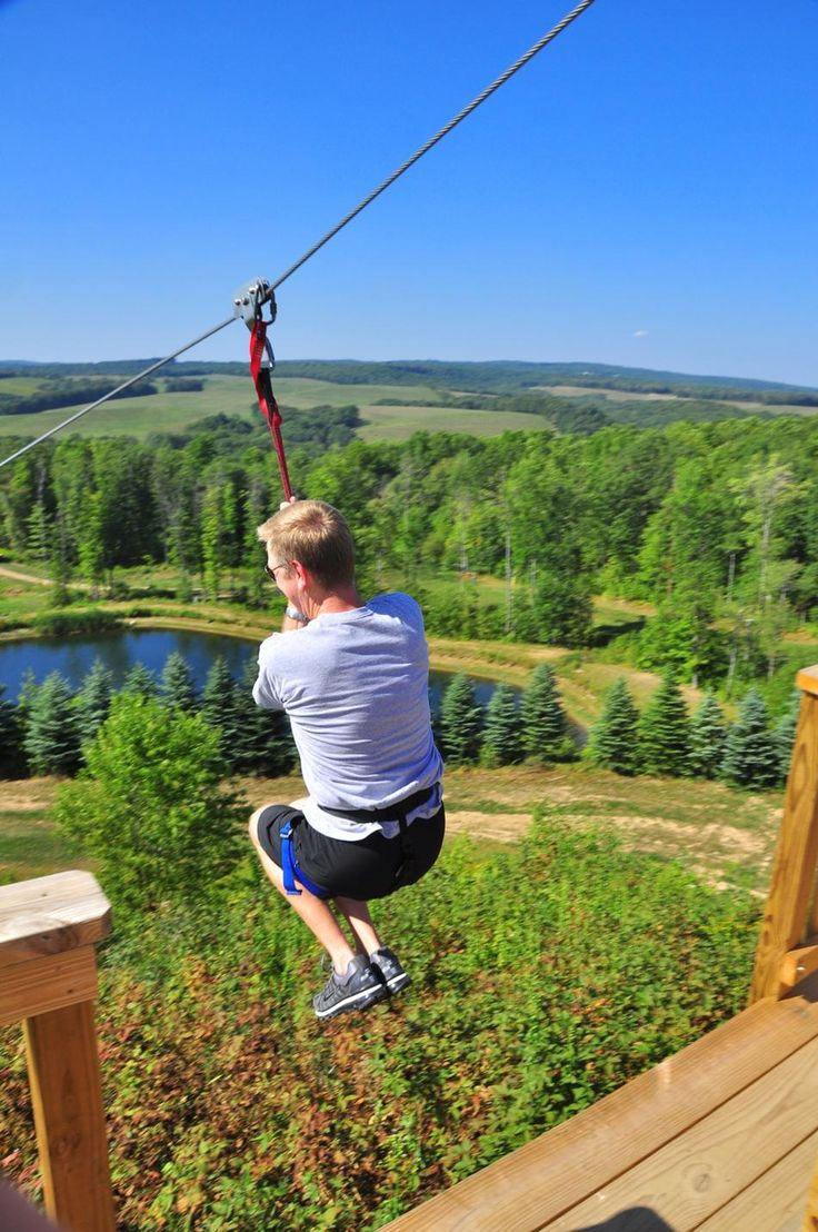 how to ride a zipline