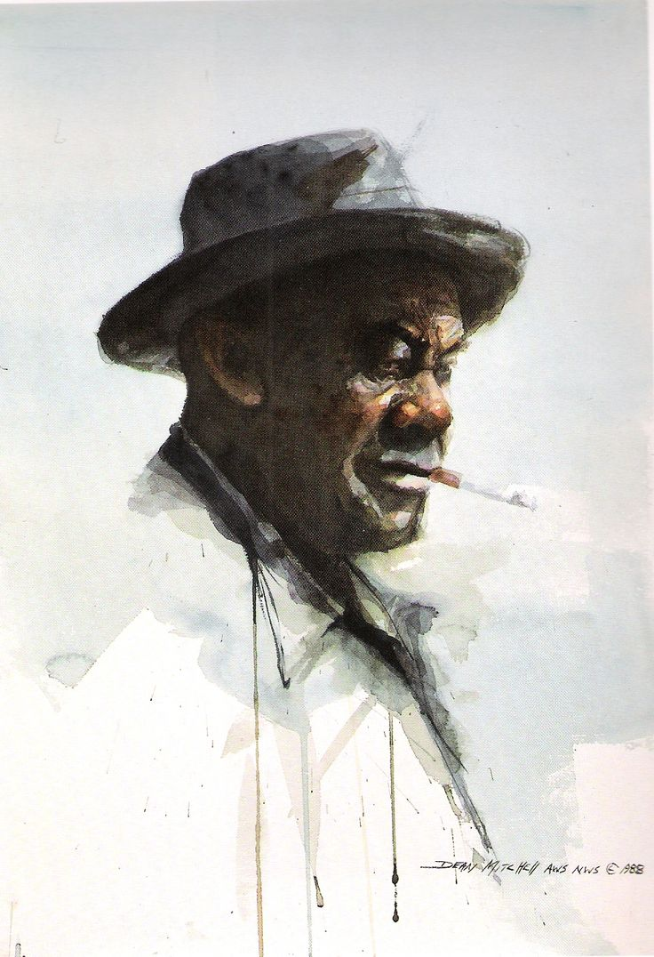 Watercolor artists websites - Quincy Plant Worker Dean Mitchell Watercolor