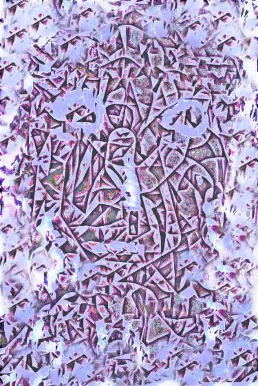 "Saatchi Art Artist ageliki baka; Painting, ""Μachine - Limited Edition 1 of 7"" #art"