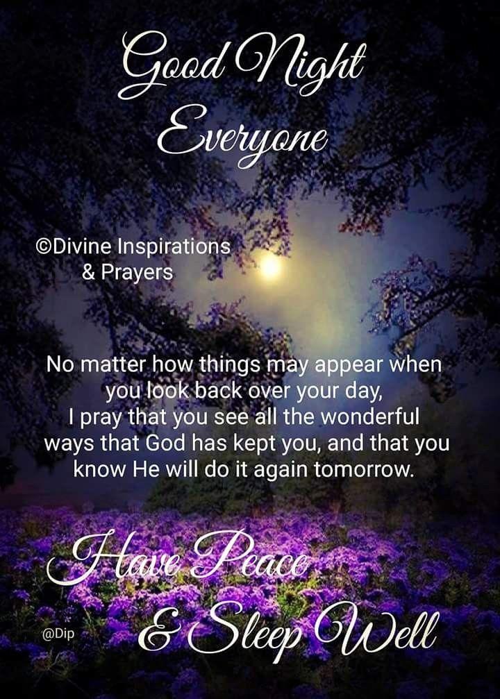 Good Night Everyone Good Night Prayer Good Night Blessings Good Night Thoughts