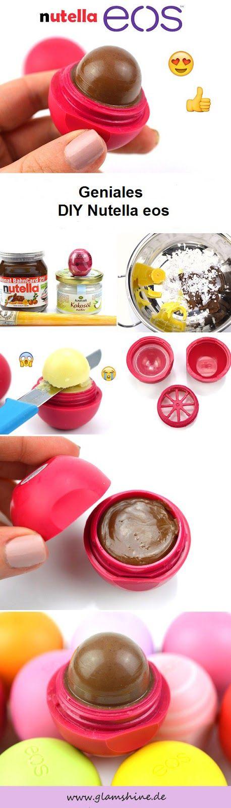 Geniales DIY Nutella eos Lip Balm - Ganz einfach selber machen!