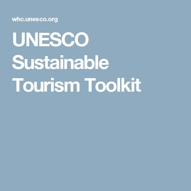 UNESCO Sustainable Tourism Toolkit