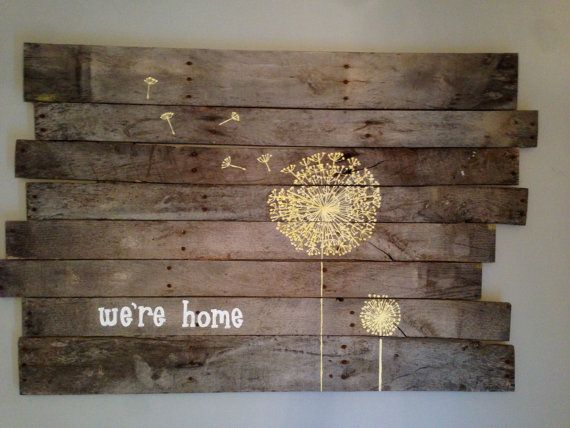 Custom Pallet Sign Hand Painted...really want to make one of these!