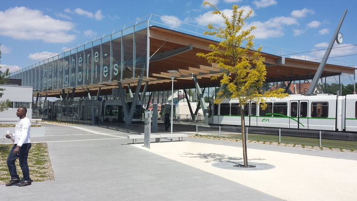 Completed in 2012 in Nantes, France. Images by Stephane Bis. Haluchère mobility hub is located at the north-east edge of the downtown. At present it combines tramway line 1, regional train and bus station (10...