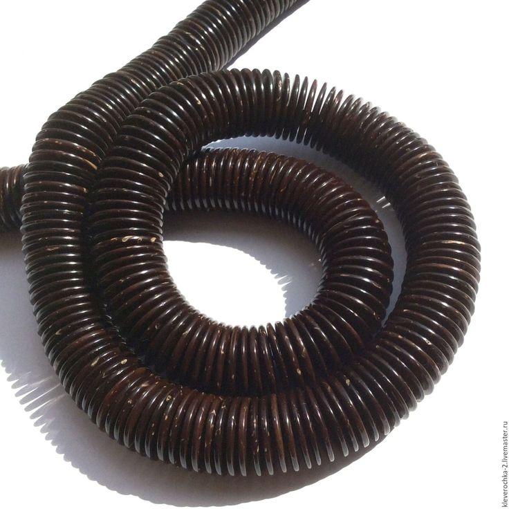 Купить _10 шт/ Кокос 18 мм шайба рондель темно-коричневый бусины д.украшений