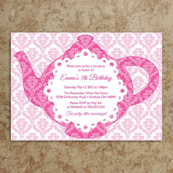 Tea Party Invitation  Tea Party Invite  by DesignsWithStyle, $20.00