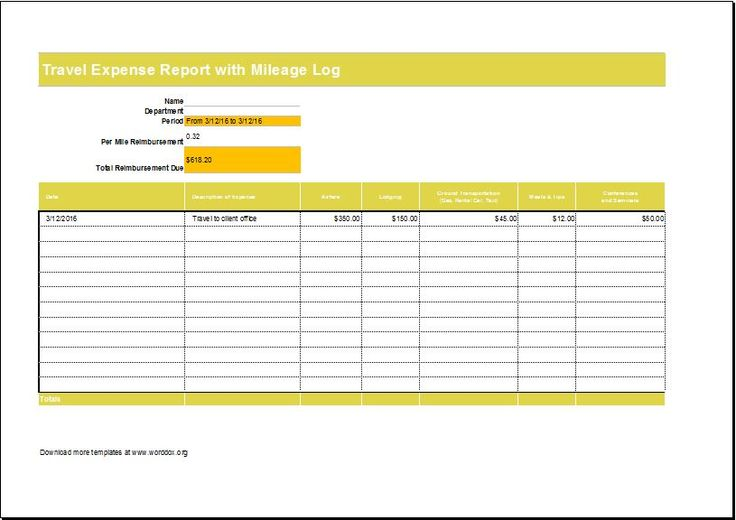 vehicle log book DOWNLOAD at    wwwtemplateinn 20-log - generic expense report