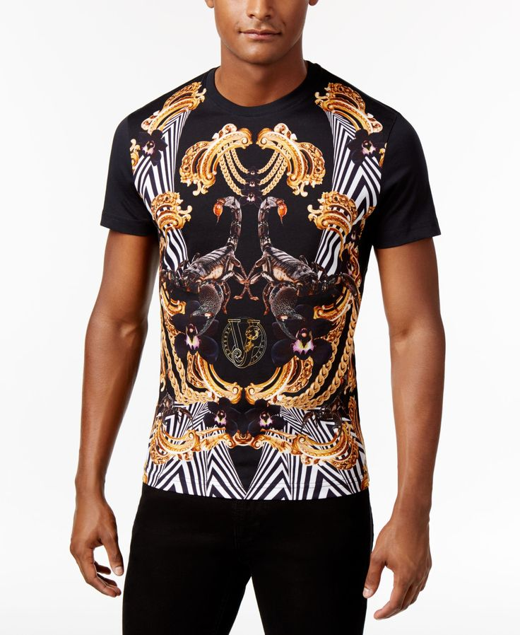 Versace Jeans Men S Graphic Print T Shirt With Images Casual Wear For Men Versace Jeans Mens Hoodie Outfit Men