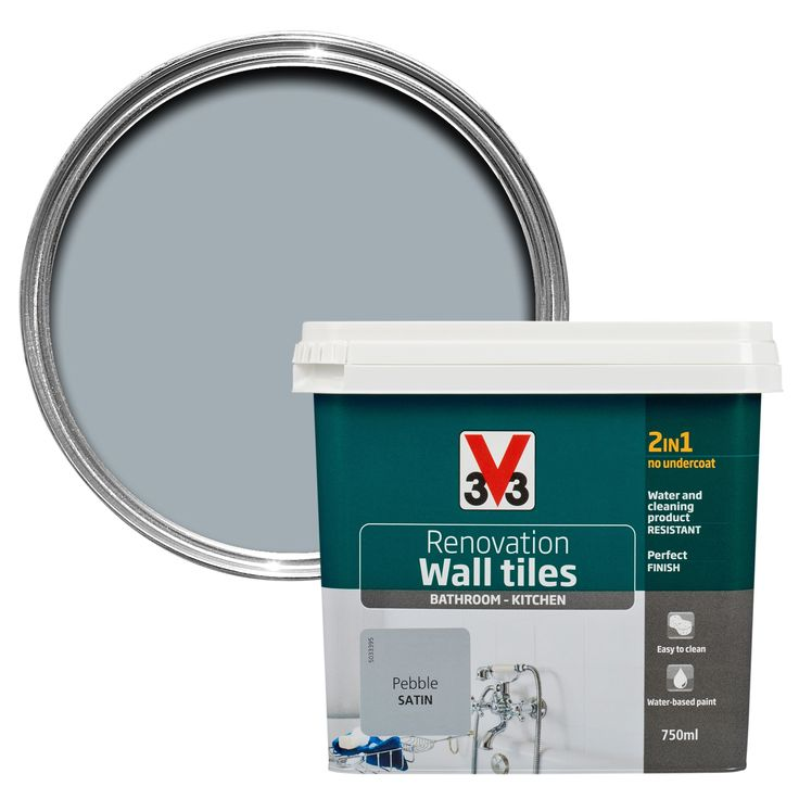 V33 Renovation Pebble Satin Wall Tile Paint 750ml | Departments | DIY at B&Q