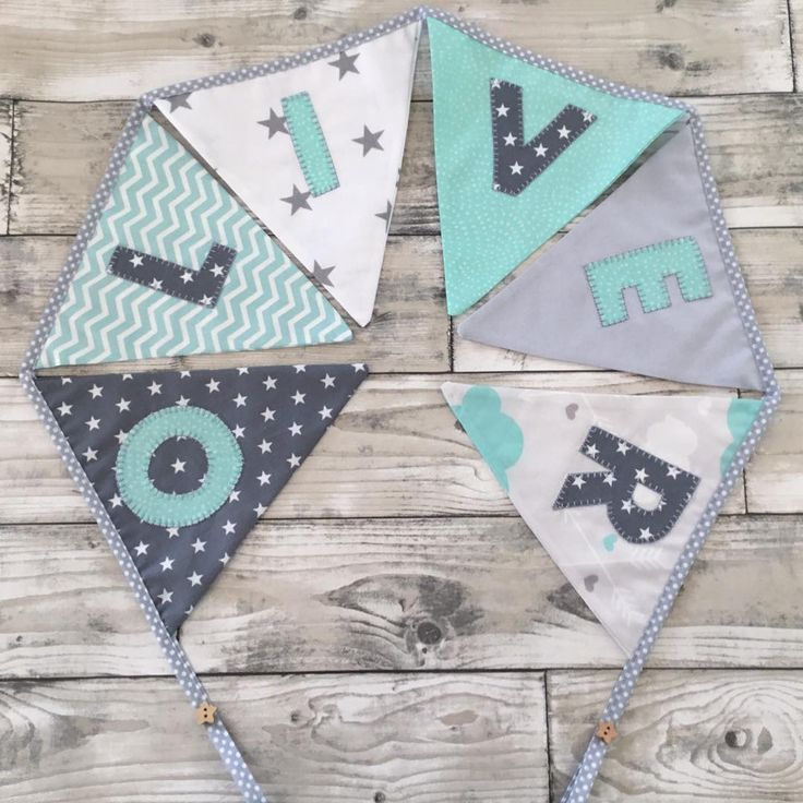 "32 Likes, 1 Comments - ⭐️ Twinkle Twinkle Babies ⭐️ (@twinkletwinklebabies) on Instagram: ""Handmade personalised bunting available in any colour combination from £3 per flag  #bunting…"""