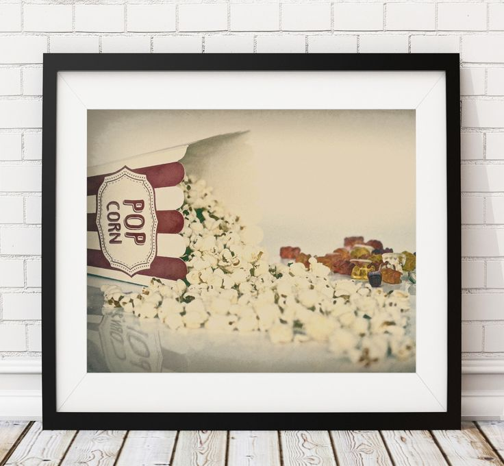 Popcorn Print, Popcorn Art, Movie Theater Decor, Movie Poster, Home Theater Wall Art, Media Room Wall Decor, Movie Night, Gift, Game Room by FatFrogPrints on Etsy https://www.etsy.com/listing/476754093/popcorn-print-popcorn-art-movie-theater