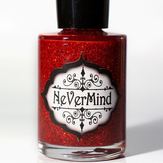 Roten holographischen Glitter Nail Polnisch / Crimson Holo