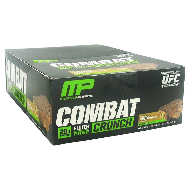 Muscle Pharm Combat Crunch Peanut Butter Cup Protein Bar - 12 Count