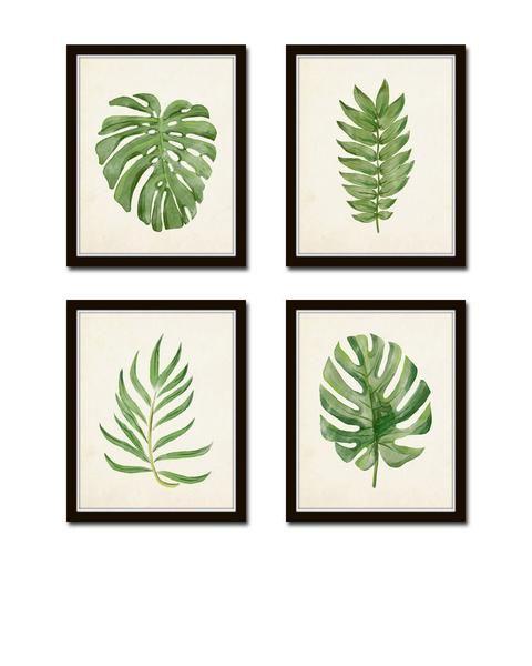 Watercolor Tropical Leaf Set No. 2