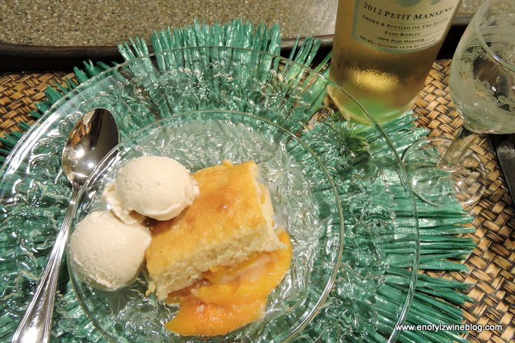 Peach and Ginger Cobbler with Tablas Creek Petit Manseng