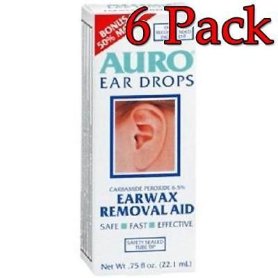 Ear Wax Removers: Auro Earwax Removal Drops, 0.75Oz, 6 Pack 363736323554S396 -> BUY IT NOW ONLY: $43.99 on eBay!