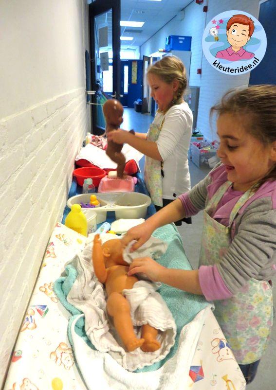 Pop in bad doen, thema baby voor kleuters, Kindergarten baby theme