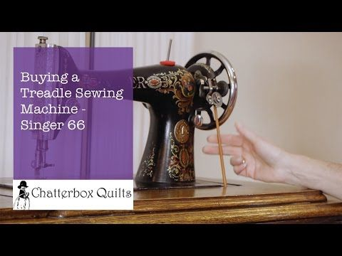 Buying a Treadle Sewing Machine - Singer 66 - YouTube