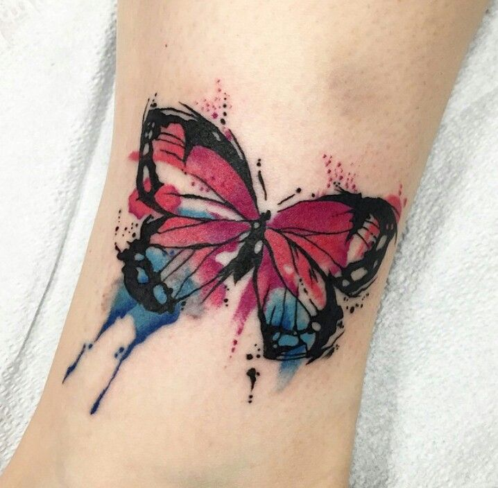 watercolor tattoo butterfly - 640×640