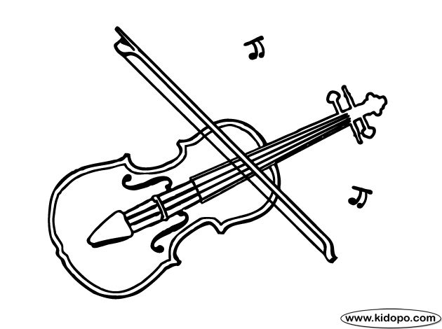 violin coloring page home schooling pinterest