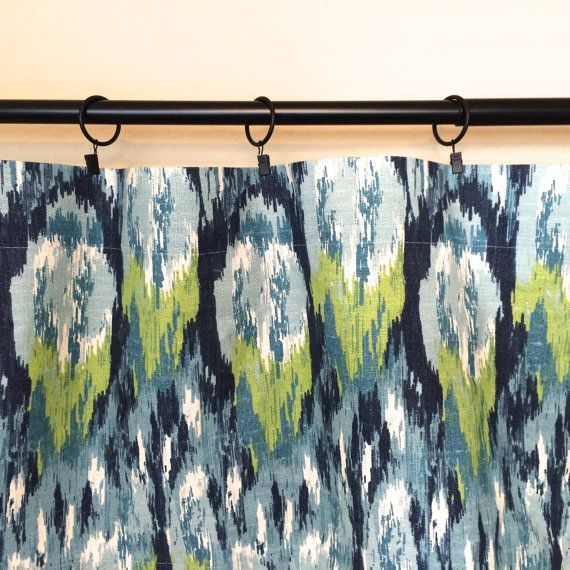 Ikat Drapery Curtain Panels. Choose from 11 by thebluebirdshop