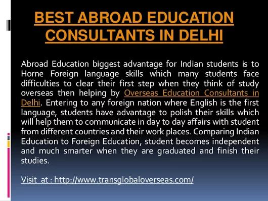 Best Abroad education consultants in Delhi