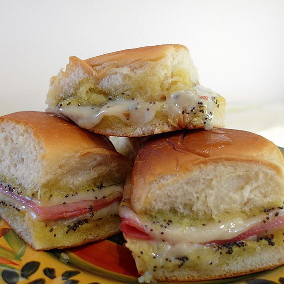 best poppy seed party ham biscuits