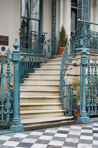 Charleston style iron stair case