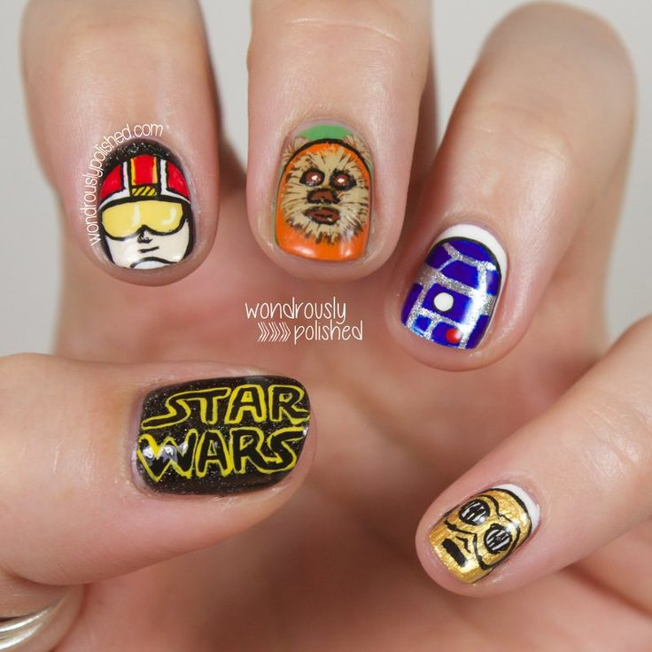 34 best crazy impressive nail art images on pinterest dress up dress up your nails for halloween star wars prinsesfo Image collections