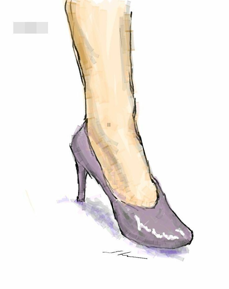 It is a sketch of shoes lilac.  I drew while commuting on a train with the GALAXY Note.