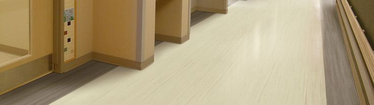 Easy to clean with a sterile look,  linoleum flooring are fantastic for hospitals!